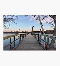 Inks Lake Fishing Dock at Sunrise  Photographic Print