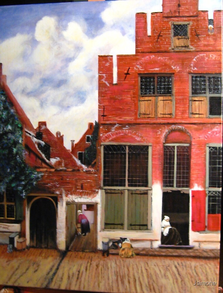 Street View in Delft, by Johannes Vermeer by Jsimone