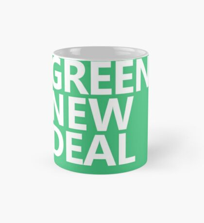 Green New Deal - White Text Mug