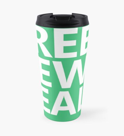 Green New Deal - White Text Travel Mug
