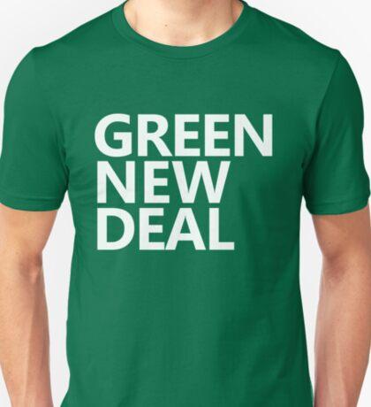 Green New Deal - White Text T-Shirt