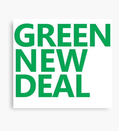 Green New Deal - Green Text Canvas Print