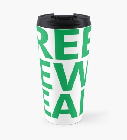 Green New Deal - Green Text Travel Mug