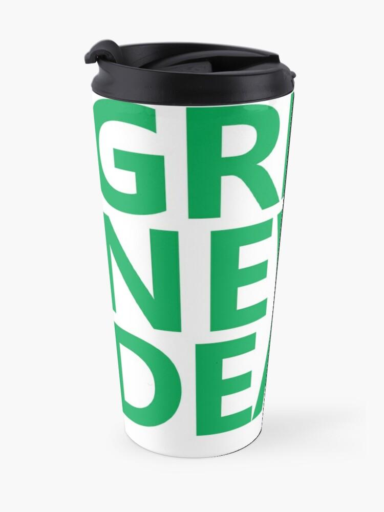 Alternate view of Green New Deal - Green Text Travel Mug
