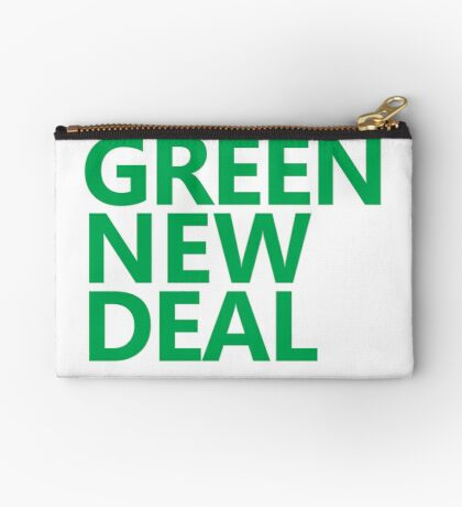 Green New Deal - Green Text Zipper Pouch