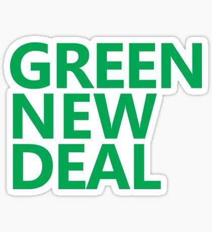 Green New Deal - Green Text Sticker