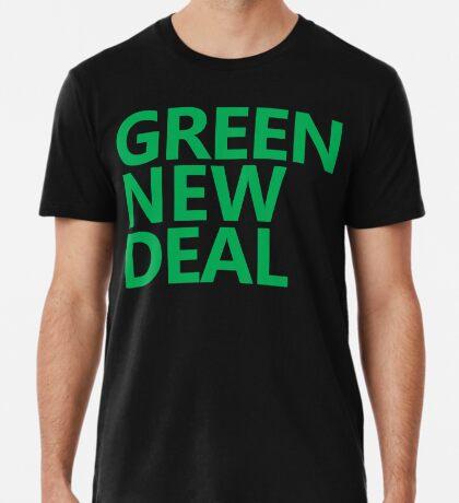 Green New Deal - Green Text Premium T-Shirt