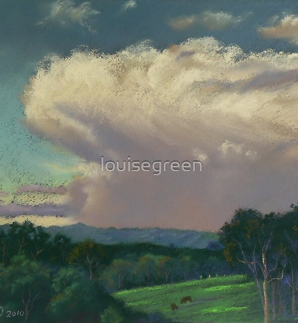 From Lansdowne - Evening Thunderhead Over Comboyne by louisegreen