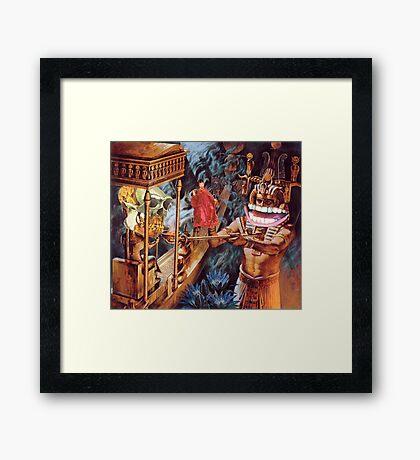 M Blackwell - Appeasing the MonkeyGod... Framed Print