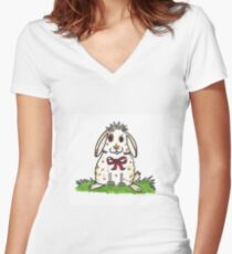Chubby Bunny 'Molly' Women's Fitted V-Neck T-Shirt