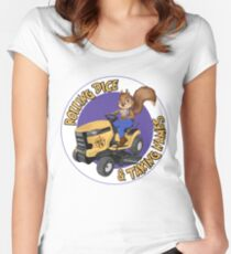 RDTN Squirrel on a Lawn Mower Fitted Scoop T-Shirt