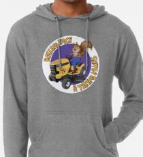 RDTN Squirrel on a Lawn Mower Lightweight Hoodie