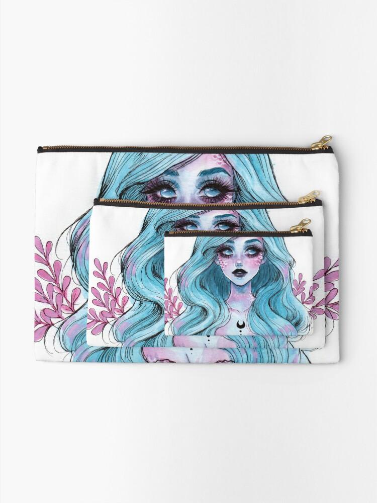 Alternative Ansicht von Perlglänzende Meerjungfrau Täschchen