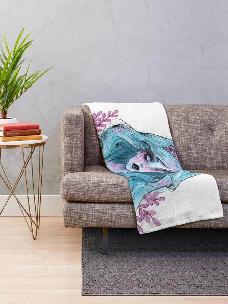Alternative Ansicht von Perlglänzende Meerjungfrau Fleecedecke