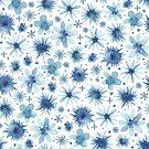 «añil acuarela floral» de Stacey Oldham