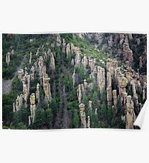 Land of Standing up Rock ~ Chiricahua National Monument, Arizona USA Poster