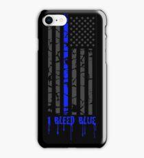 Thin Blue Line - I Bleed Blue iPhone Case/Skin