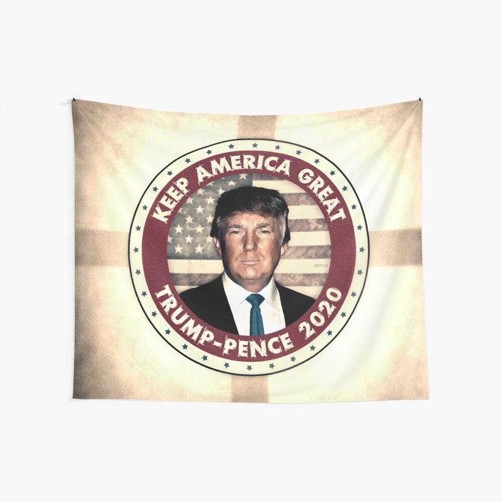 Vote Trump-Pence 2020 Wall Tapestry