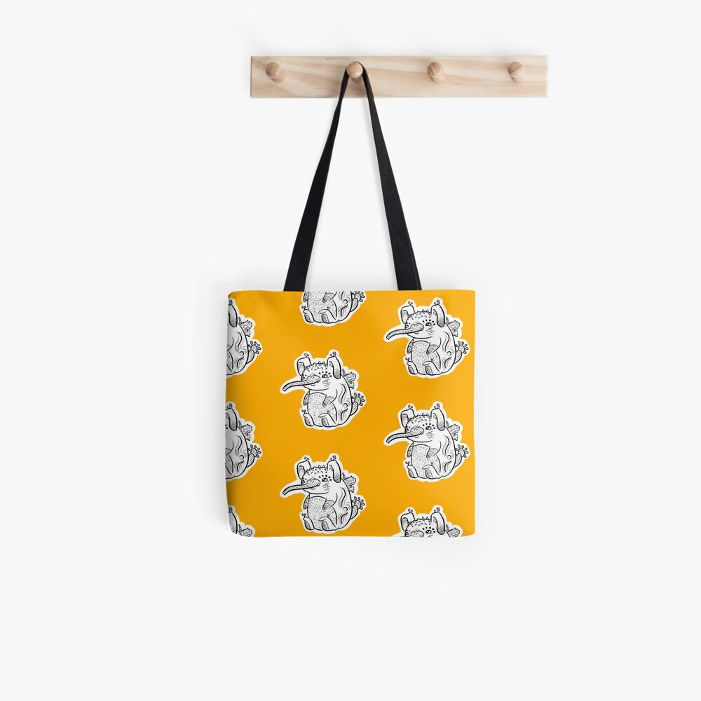 Snouted Cute Forest Mushroom Creature Tote Bag