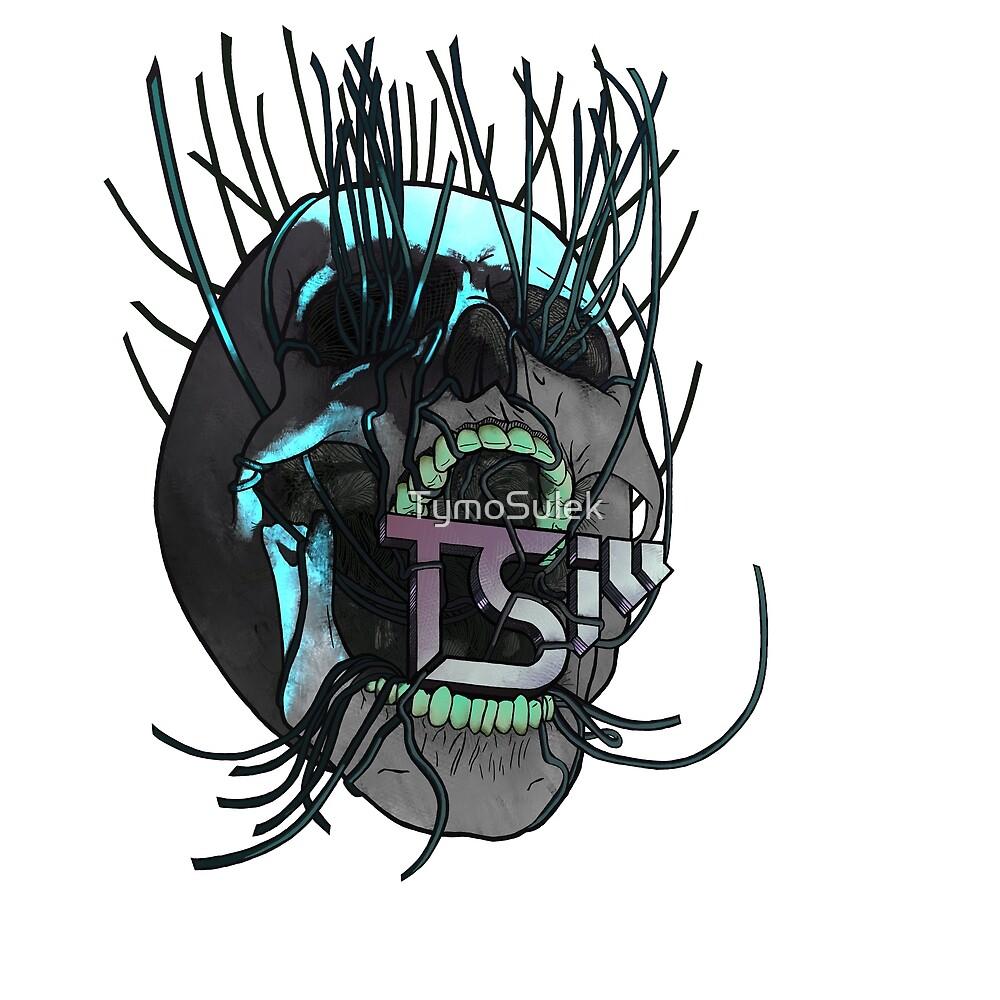 Vines Skull | TSIll logo | Graveyard | Ice Blue | by TymoSulek