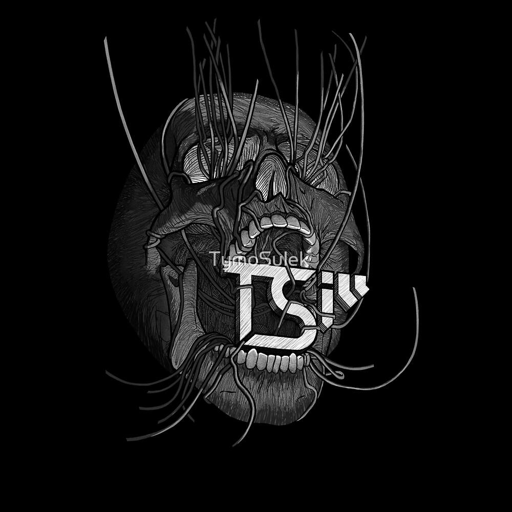 Vines Skull   TSIll logo   Graveyard   Grey   by TymoSulek