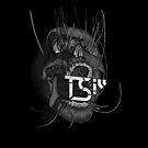 Vines Skull | TSIll logo | Graveyard | Grey | by TymoSulek