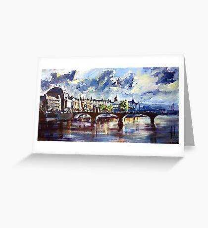 Prague in springtime Greeting Card