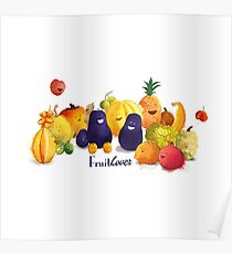 fruits tropicaux Poster