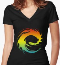 Colorful Eragon Women's Fitted V-Neck T-Shirt