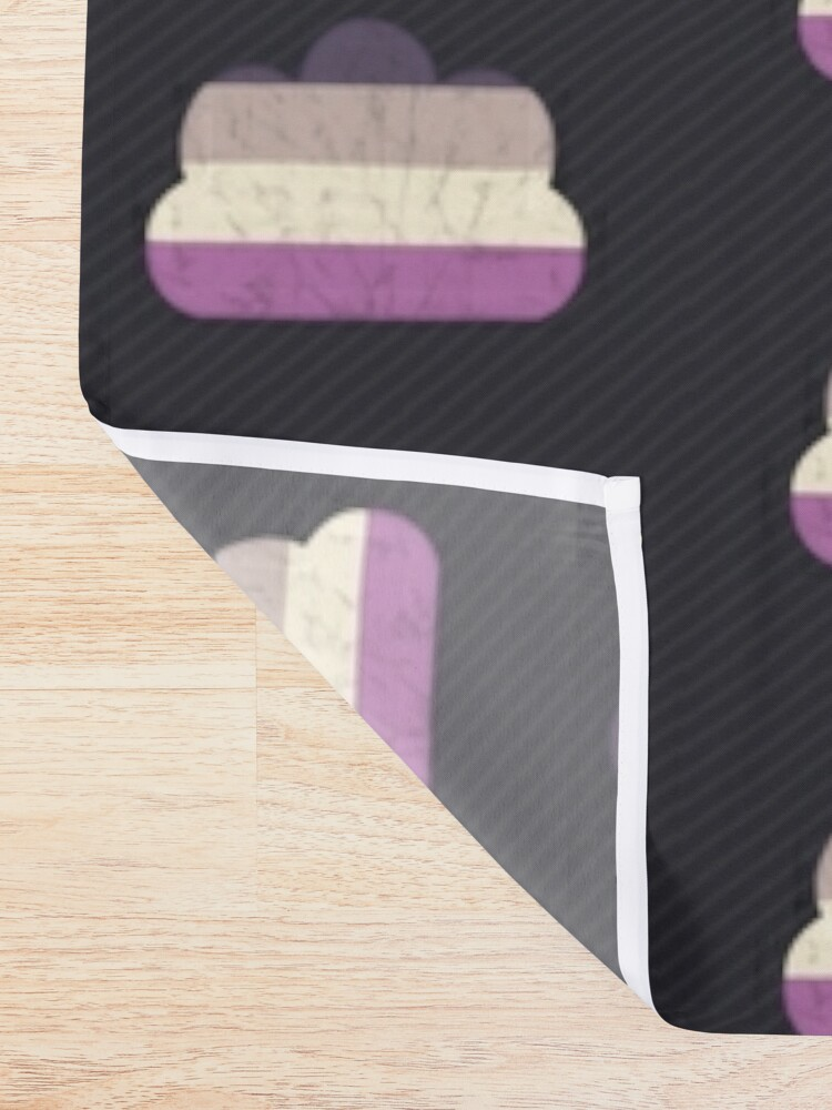 Alternate view of Asexual Cloud Shower Curtain