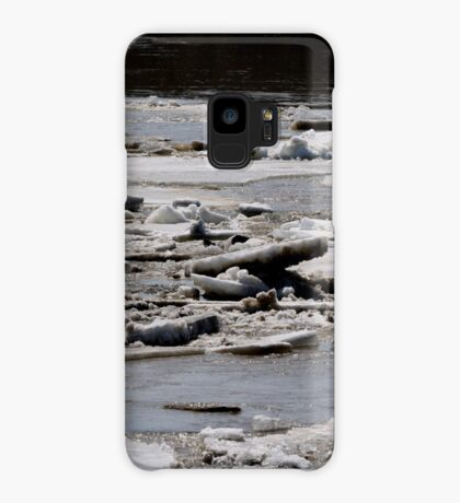 Ice Jams on the Red Case/Skin for Samsung Galaxy