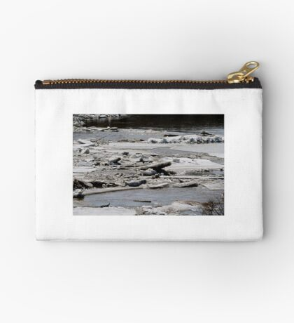 Ice Jams on the Red Studio Pouch