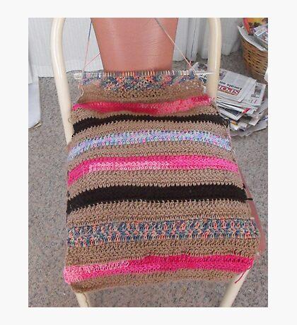 Crochet Cushion Chair Cover Photographic Print
