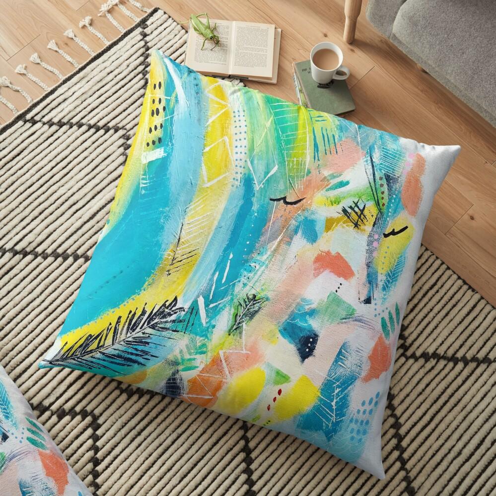 Cool Summer Floor Pillow