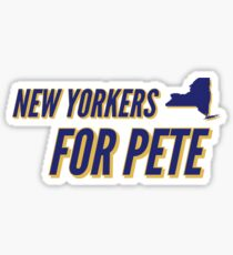 New Yorkers for Mayor Pete Sticker