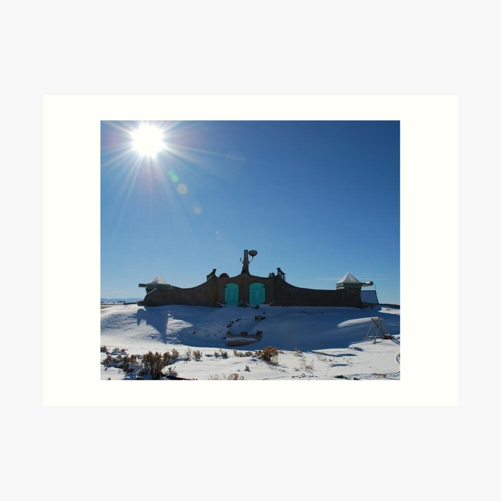 Roof of Earthship Art Print