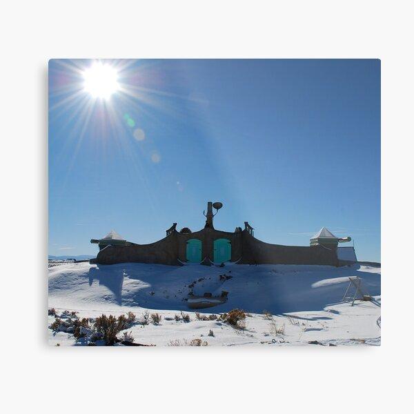 Roof of Earthship Metal Print