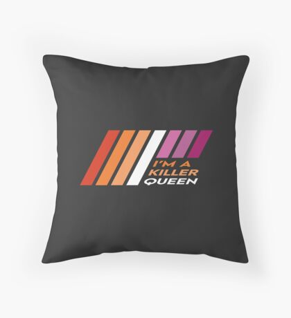 Pride Stripe: I'm a Killer Queen Floor Pillow