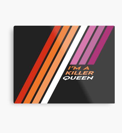 Pride Stripe: I'm a Killer Queen Metal Print