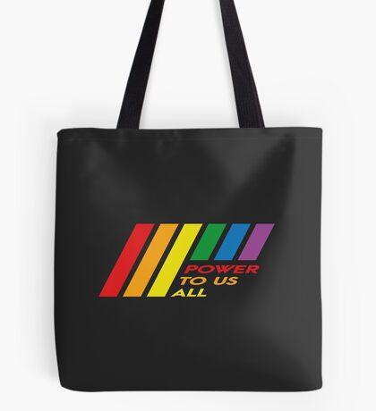 Pride Stripe: Power To Us All Tote Bag