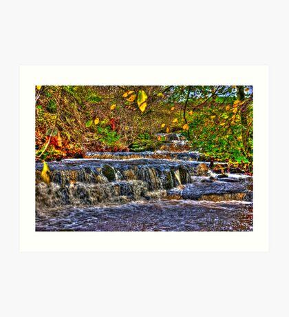 Waterfalls at Kearton (HDR) Art Print