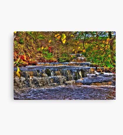 Waterfalls at Kearton (HDR) Canvas Print