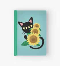 Whim with Sunflower Hardcover Journal