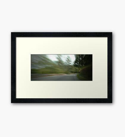 Rounding the Bend... Framed Print