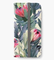 Painted Protea Pattern iPhone Wallet/Case/Skin