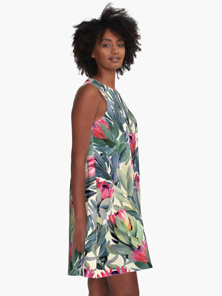 Alternate view of Painted Protea Pattern A-Line Dress