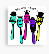 Spoonie Strong w/Words Canvas Print