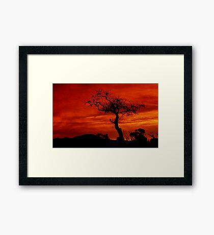 """Silhouettes at Sunrise"" Framed Print"