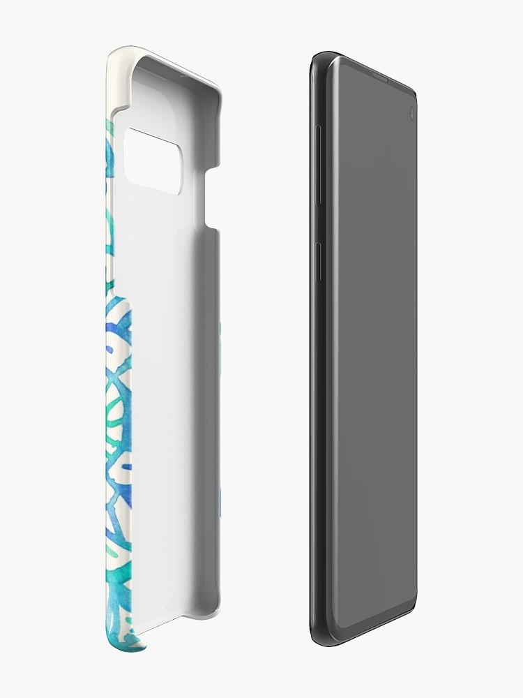 Alternative Ansicht von Aquarell Medaillon in Ocean Farben Hülle & Klebefolie für Samsung Galaxy