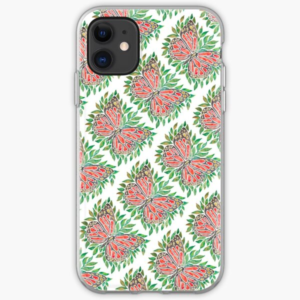 Monarch Butterly on Leaves iPhone Soft Case